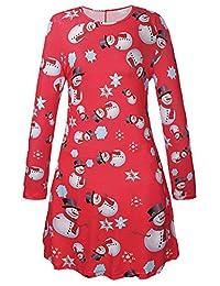 Herose Female Festive Patterns Ugly Christmas Dress Funny A-line Minidress Outfits