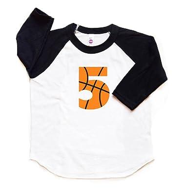 5 Birthday Shirt Basketball Toddler Boy Or Girl Kids Five Bday Tshirt Fifth Sports Tee 5th