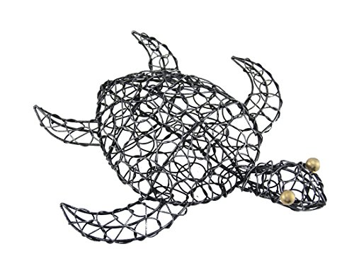 Pewter Turtle - Zeckos Pewter Finish Looped Metal Sea Turtle Wall Hanging 11 1/2 Inches Long