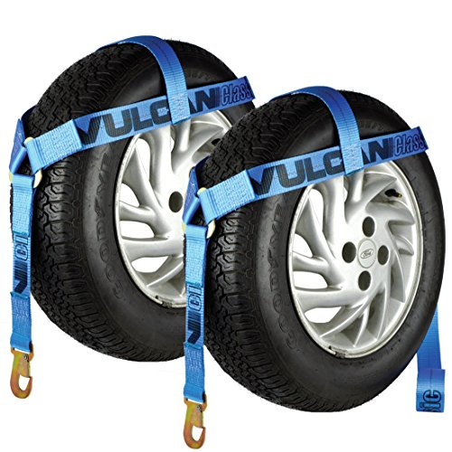 (Vulcan Blue Classic Bonnet Style Wheel Lift Harnesses with Snap Hooks 2 Pack)