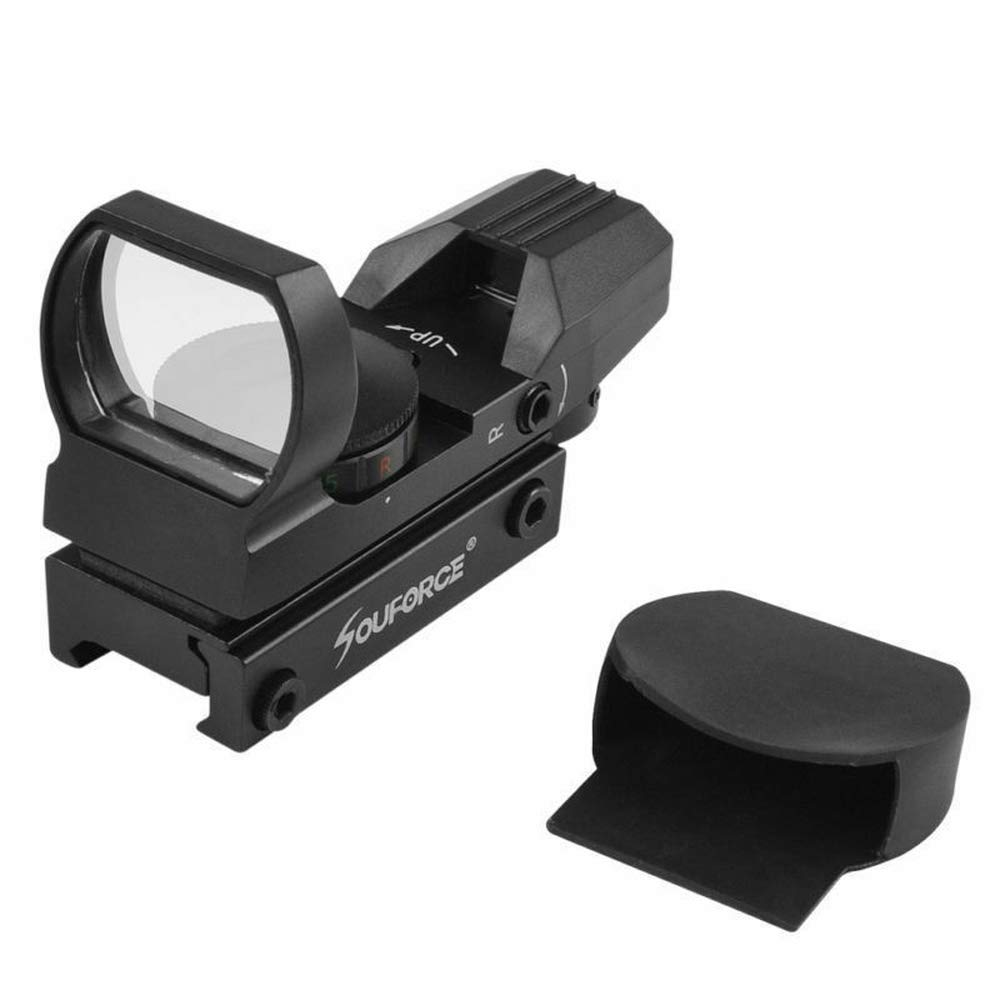 HERCHR Optical Sight Scope, For Gun Airsoft Pistol Red/Green Dot Holographic 1x22x33 CN, Black by HERCHR (Image #5)