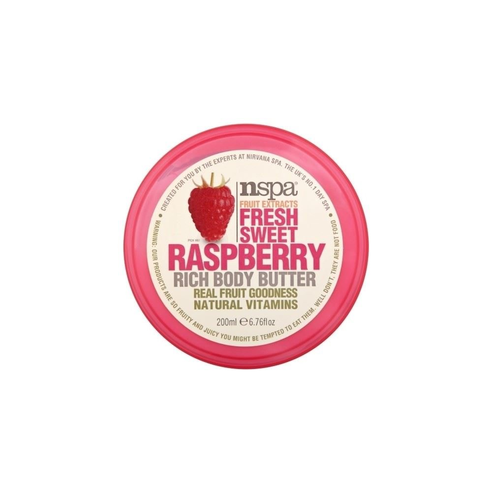 N-Spa Fruit Extracts Fresh Sweet Raspberry Rich Body Butter (200ml) Nspa