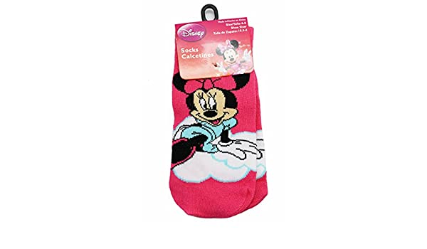 Amazon.com: Disneys Minnie Mouse Minnie on a Cloud Hot Pink Socks (1 Pair, Size 6-8): Clothing