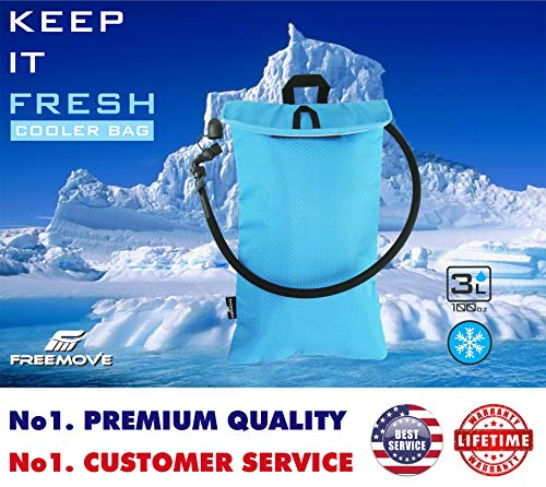 FREEMOVE Cooler Bag Protective Sleeve for 2L or 3L Hydration Water Bladder Keeps Water Cool Protects The Bladder Lightweight Water Resistant Bladder is NOT Included