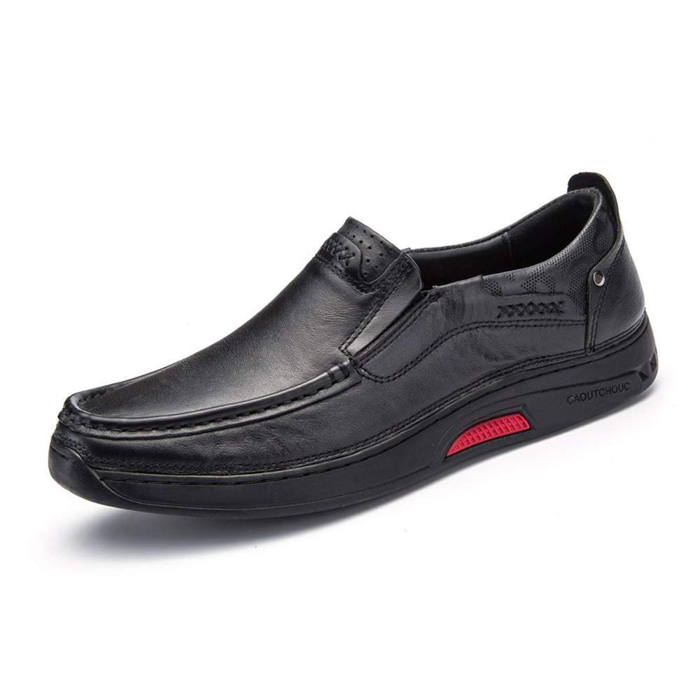 WANG-LONG Schuhe Schuhe Schuhe Herren Martin Stiefel Herbst Retro Outdoor Atmungsaktiv Business Casual Lederschuhe Rutschfeste Mode,schwarz-44 8cdb33