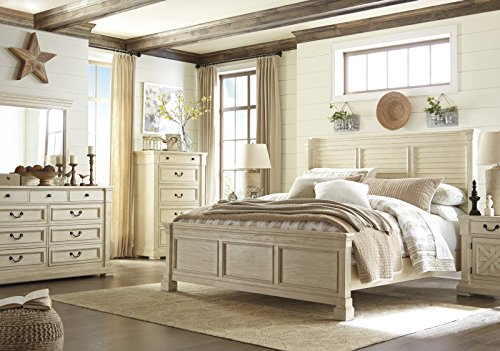 amazoncom signature design by ashley bolanburg bedroom set with king bed nightstand dresser and mirror kitchen u0026 dining