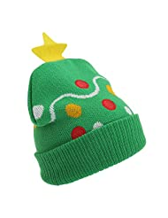 Childrens/Kids Christmas Design Knitted Winter Hat (3 Designs)