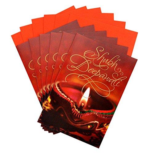 Hallmark Diwali Cards, Shubh Deepawali (Pack of 6 Cards with Envelopes)