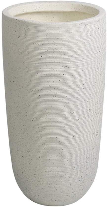 FCXBQ Umbrella Racks Ceramic Gray/White Umbrella Stand Stick Holder Or Vase, Home Office Entryway Decor Freestanding for Canes/Walking Sticks (Color : White, Size : Ø26×H50.5cm)
