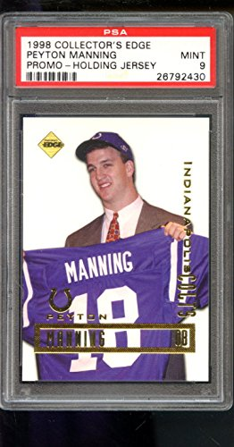 1998 Collector's Edge Peyton Manning Promo Graded ROOKIE Card PSA 9 Collectors - 1998 Peyton Manning Edge