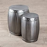 2-Pack Handmade Fluted Round Barrels (Natural)