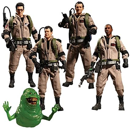 IN STOCK GHOSTBUSTERS Mezco Toyz One:12 Collective Deluxe Tin Box Figure Set NEW
