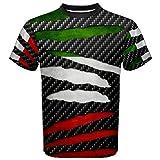 WorldX Italy Beast Ripped Pattern Italian Italia Flag T-Shirt