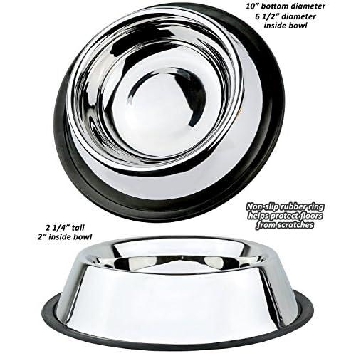 Estilo Stainless Steel Dog Bowls, 32 Oz (Set of 2)