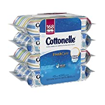 Cottonelle Fresh Care Flushable Cleansing Cloths Bundle, 168 Count, Pack of 4