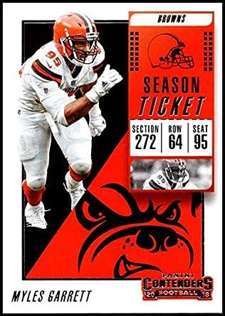 2018 Panini Contenders Season Tickets  75 Myles Garrett Cleveland Browns  NFL Football Trading Card 618f28fcb