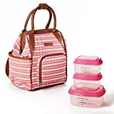 Fit & Fresh Piper Small Backpack Lunch Bag with Container Set, Insulated Daypack
