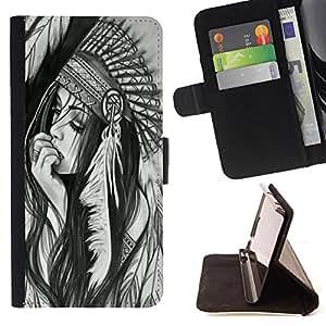 Dragon Case- Caja de la carpeta del caso en folio de cuero del tir¨®n de la cubierta protectora Shell FOR LG Google Nexus 5 E980 D820 D821- American Indian Red Indian Feather