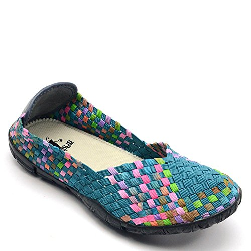 Turquoise Corkys Multi Womens Flats Casual Sidewalk wTYxYaqHp