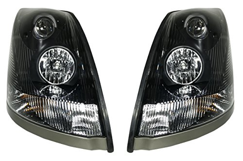 - Volvo VNL Headlights Headlamps VNM Halogen 2004-2015 1 Pair DOT SAE Exact Match