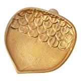 Hallmark Home Fall Decorative Gold Metal Acorn Plate, Small