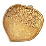 Hallmark Home Fall Decorative Gold Metal Acorn Plate, Small offers