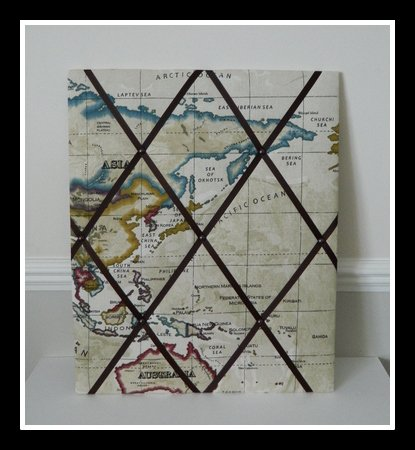 Fabric Notice Boardmemo Boardpin Board Vintage Map Large Amazon