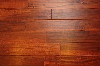 "Elk Mountain Acacia Cinnamon 1/2"" x 4-3/4"" Hand Scraped Engineered Hardwood Flooring FH273 SAMPLE"
