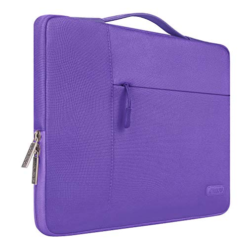 (MOSISO Laptop Sleeve Briefcase Handbag Compatible 15-15.6 Inch MacBook Pro, Notebook Computer, Polyester Multifunctional Carrying Case Protective Bag Cover, Ultra Violet )