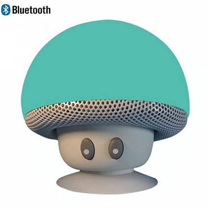 leacoco Mini inalámbrico portátil Bluetooth Altavoces con micrófono y ventosa portátil pequeño estéreo para iPhone y