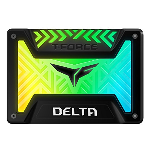 TEAMGROUP T-Force Delta RGB SSD 1TB 2.5 inch SATA III 3D NAND Internal Solid State Drive (5V RGB Header) - Black