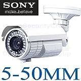 USG 5-50mm Lens Sony DSP 1200TVL 720P 1.3MP Analog BNC Bullet Security Camera with 72x IR LEDs, IR Cut, OSD, Outdoor & Indoor IP66 Vandal & Weatherproof