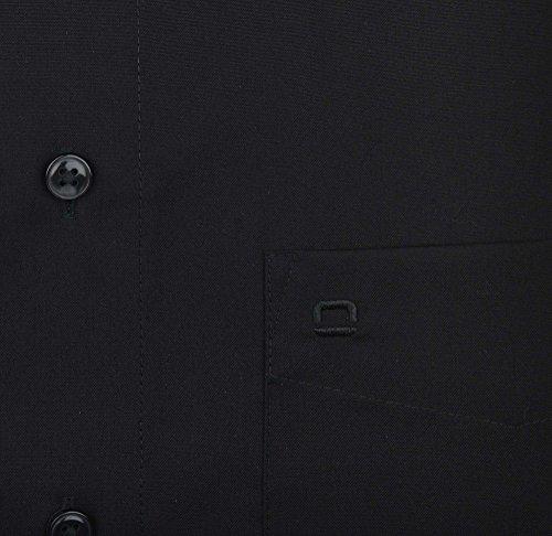 Olymp Luxor kurzarm Hemd Modern Fit - schwarz, Kragenweite:41
