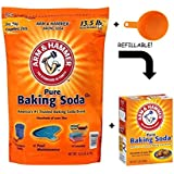 Arm & Hammer Baking Soda, 14.5 Pound - With Resealable Box & Measuring Cup