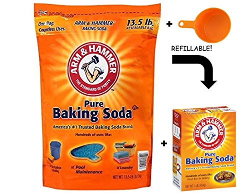 Arm & Hammer Baking Soda, 14.5 Pound - With Resealable Box & Measuring Cup (14.5 lbs: Best Value)