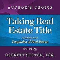 Taking Real Estate Title