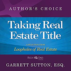 Taking Real Estate Title Audiobook