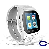 Smart Watch Bluetooth Smartwatch Smart Wrist Phone Watch Touch Screen Fitness Tracker Pedometer Sleep Monitor Sport Watch for All Android Phones Samsung Huawei Motorola Men Women Kids (White)