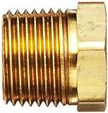 "Robert Manufacturing R209 Series Bob Brass Adapter, 3/8"" NPT Male x 1/4"" NPT Female"