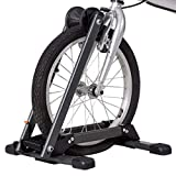 Toolsempire Foldable Bicycle Floor Parking Rack Bike Storage Stand Wheel Holder for Indoor Home Garage