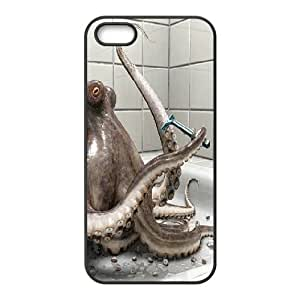 IPhone 5,5S Cases Octopus Beauty, Iphone 5s Case for Men - [Black] Okaycosama