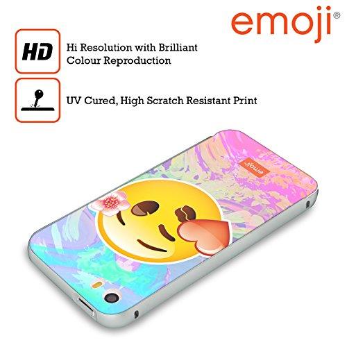 Officiel Emoji Baiser Solos Argent Étui Coque Aluminium Bumper Slider pour Apple iPhone 5 / 5s / SE