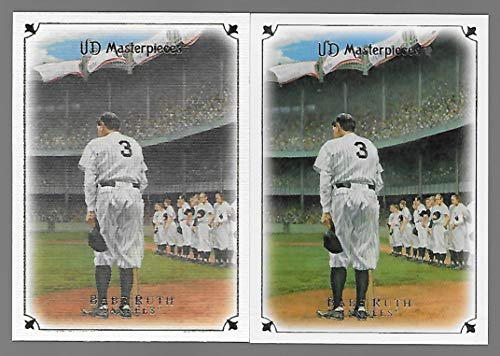 Babe Ruth 2007 Upper Deck Masterpieces Baseball Card #2 - Lot of 2 - Farewell Speech - New York Yankees - Stored in a Protective Plastic Display Case!! (The Best Farewell Speech)
