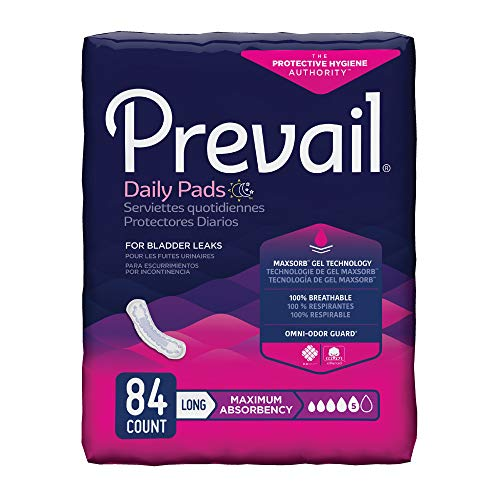 (Prevail Maximum Absorbency Incontinence Bladder Control Pads, Long, 84 Count)