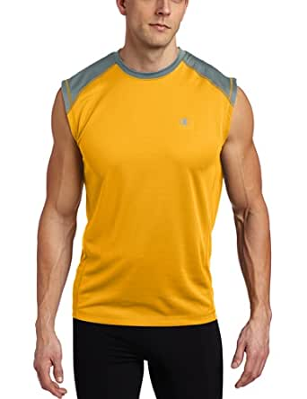 Champion Men's Doubledry Training Muscle Tee, Sungold/Carbon, XX-Large