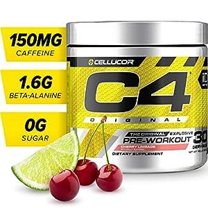 C4 Original Pre Workout Powder Cherry Limeade | Sugar Free Preworkout Energy Supplement for Men & Women | 150mg Caffeine + Beta Alanine + Creatine | 30 Servings