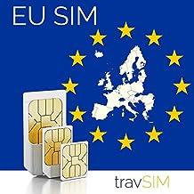 European Union 9GB Prepaid Fast Internet Data SIM (26 EU Destinations) 42 Countries Instant Connection 60 Day Plan (3000 min free within 48 Countries & Territories incl EU)