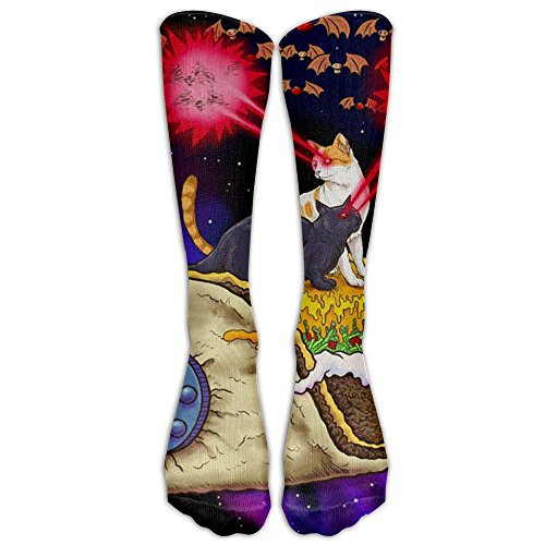 fan products of Taco Cats In Space Compression Socks Soccer Socks Long Stockings For Running Jogging Cross Training Cycling Relief