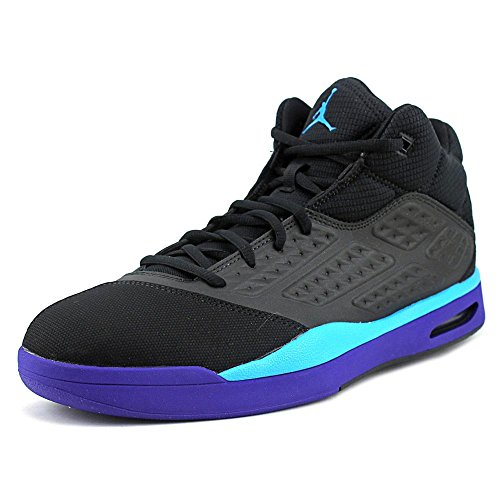 [768901-008] AIR JORDAN NEW SCHOOL MENS SNEAKERS AIR JORDANBLACK BLUE LAGOON BRGHT CNCRD (New Air Jordan Sneakers)