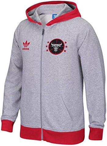 Cereal Beneficiario logo  Amazon.com : adidas Chicago Bulls Originals Full-Zip Hoodie (Gray) M :  Sports & Outdoors